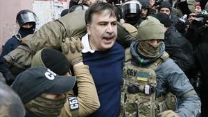 Momento del arresto deSaakashvili.