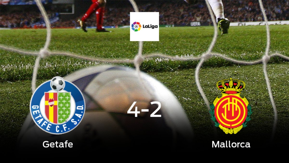 El Getafesuma tres puntos más frente al Mallorca (4-2)