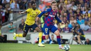 Griezmann, durante el veraniego partido del Gamper contra el Arsenal.