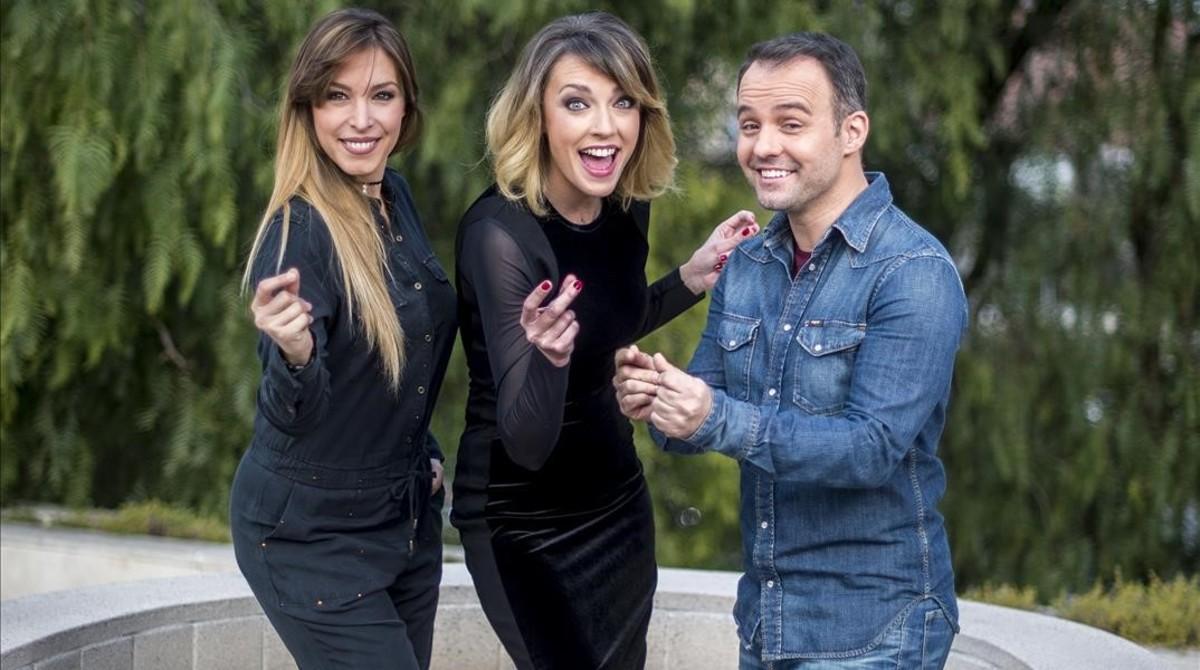 Gisela, Anna Simon y Daniel Anglès, en Oh happy day.