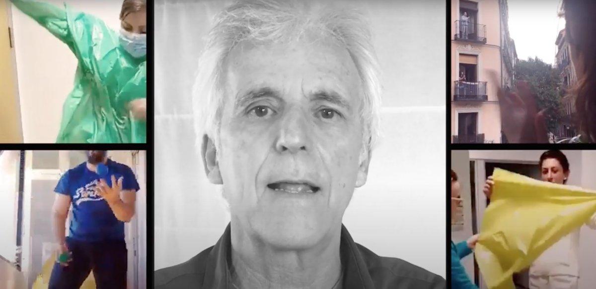Fotograma del vídeo de 'Hay gente', la canción que de Kiko Veneno dedica a los sanitarios y trabajadores que luchan en primera línea contra el covid-19.