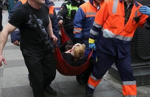 Heridos tras la explosión de San Petersburgo.