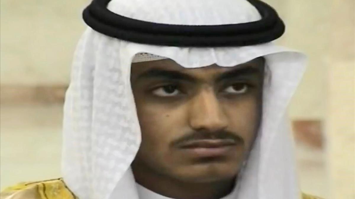 Captura de video facilitada en 2018 por la Agencia Central de Inteligencia estadounidense CIA de Hamza bin Laden.
