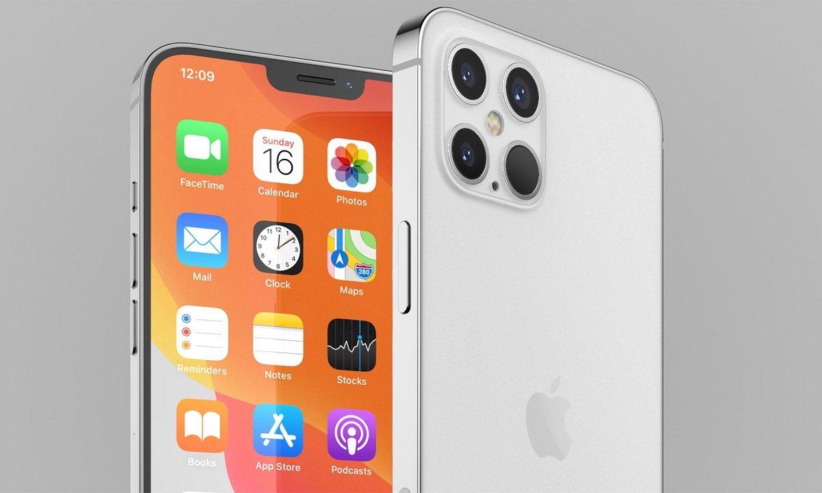 Imagen filtrada del iPhone 12, gama alta con tres cámaras.