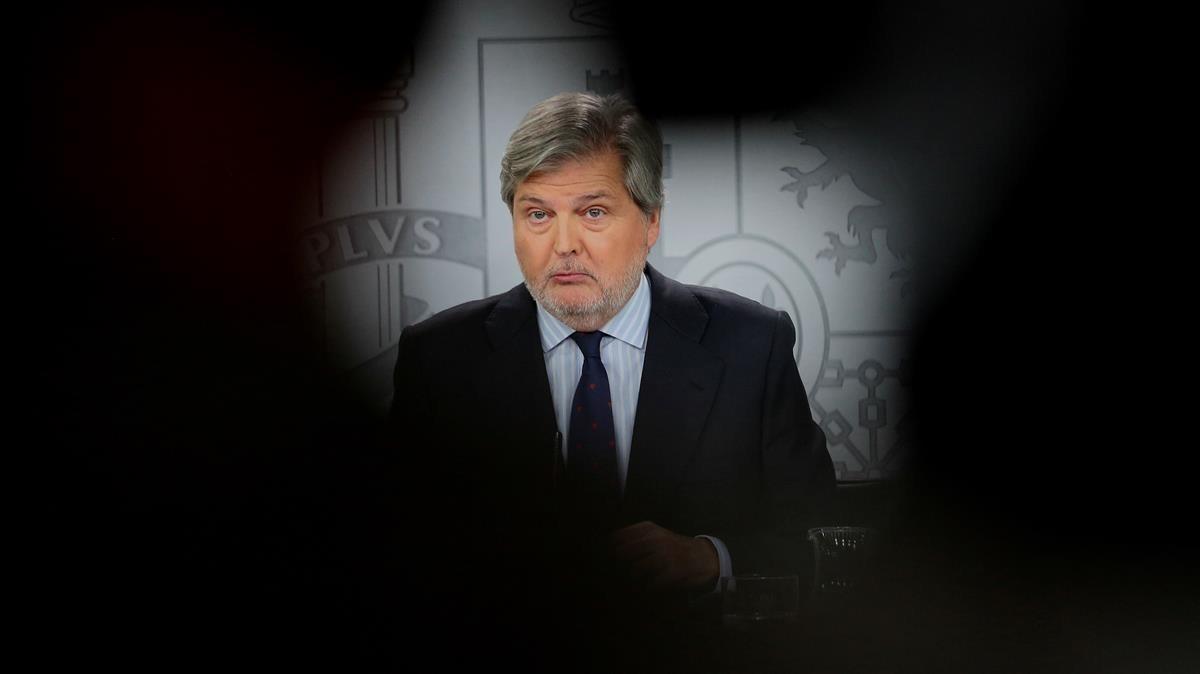 Ínigo Méndez de Vigo durantelarueda de prensa posterior al Consejo de Ministros.