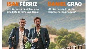 Isak Férriz y Daniel Grao, en una imagen de Gigantes, en la portada de Teletodo.