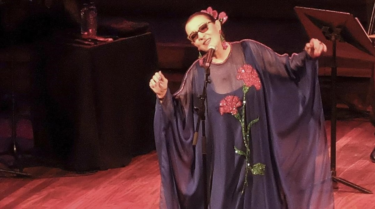 Martirio, durante el concierto que ofreció el viernes en el Palau de la Música.
