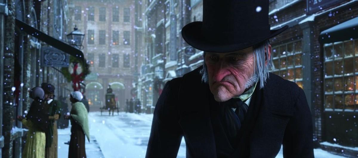 Jim Carrey, en el papel de Scrooge, en Cuento de Navidad, de Robert Zemeckis.