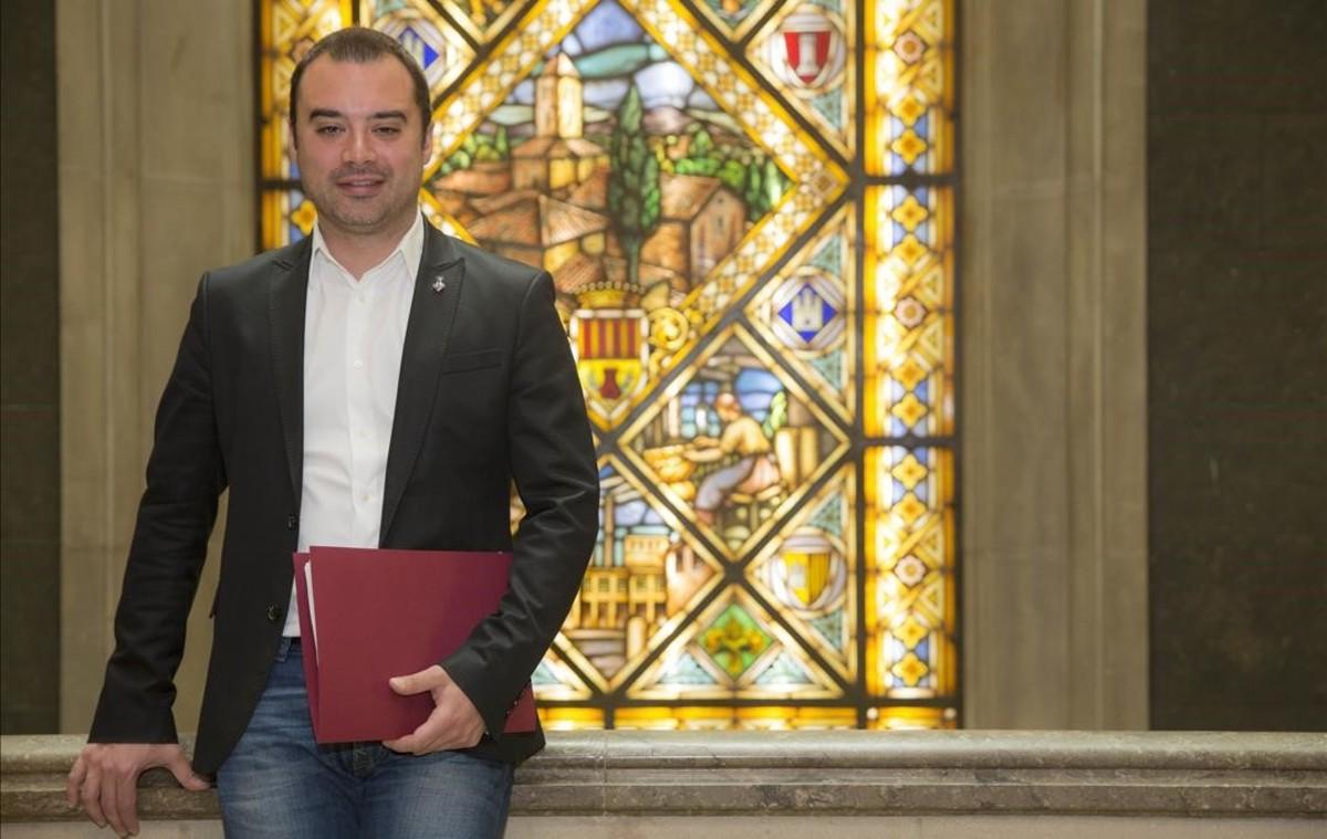 Imagen de archivo: Jordi Ballart, exalcalde de Terrassa, en el ayuntamiento.