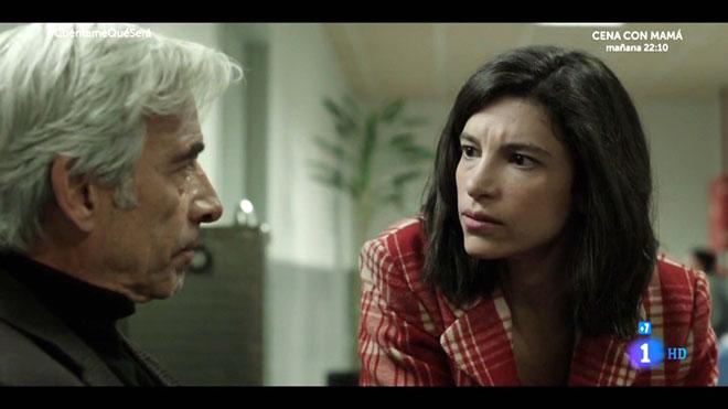Antonio Alcántara con su hija Inés (TVE-1).
