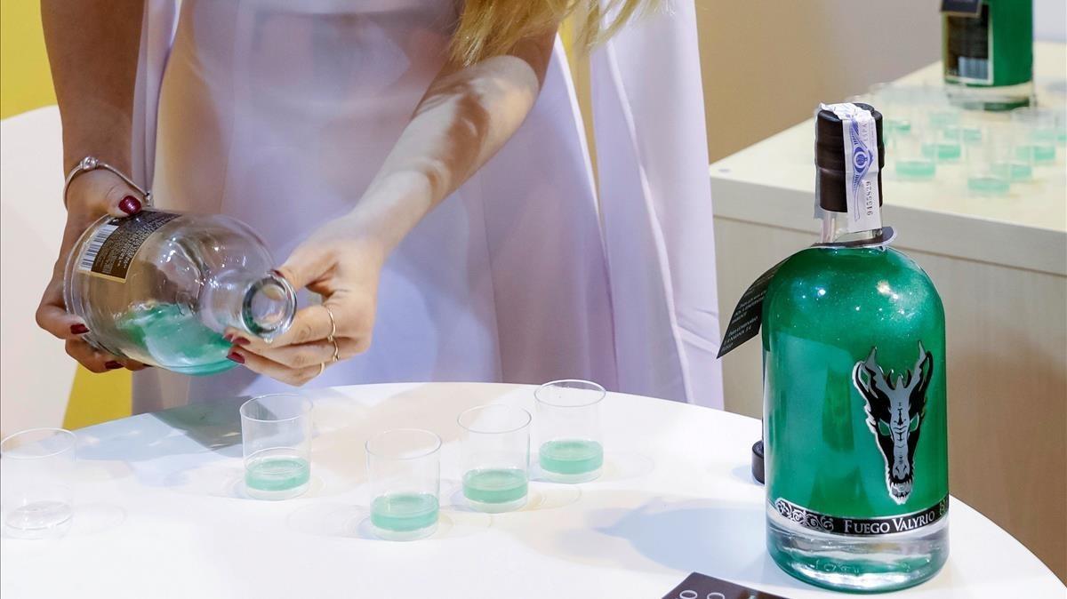 Presentación del licor de Juego de tronos en el Salón de Gourmets, en Madrid.
