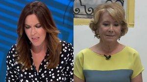 Esperanza Aguirre, emocionada, le confiesa a Mamen Mendizábal que su perro Pecas murió atropellado