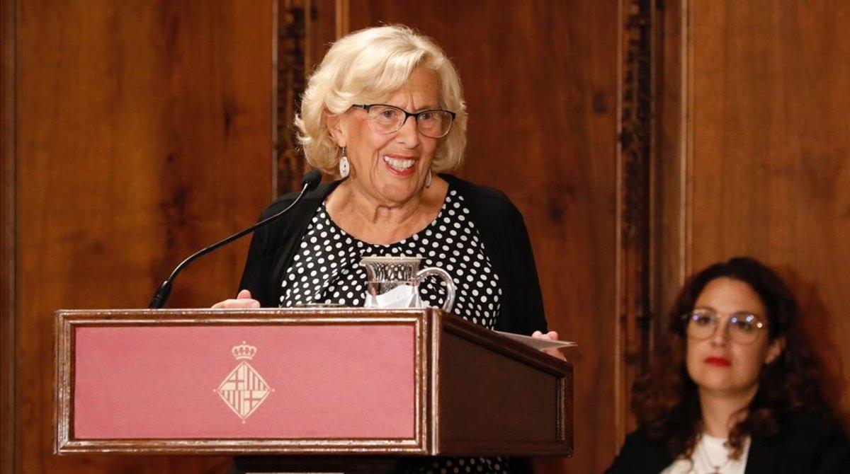 Manuela Carmena durante el discurso.