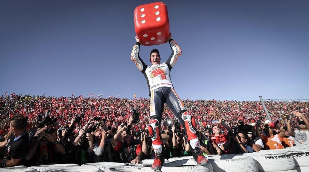 Marc Márquez se convirtió, el pasado noviembre, en Cheste (Valencia), en 'Big 6' al conquistar su sexto título mundial.