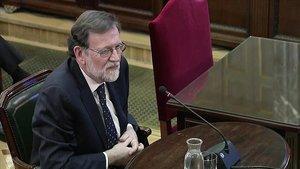Mariano Rajoy testifica ante el Tribunal Supremo, el miércoles.
