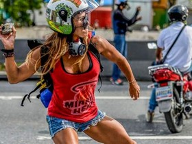 La 'Wonder Woman' de les protestes veneçolanes
