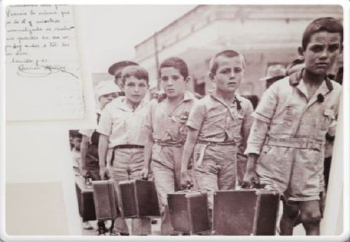 Imagen de la exposición Los niños de las guerra.