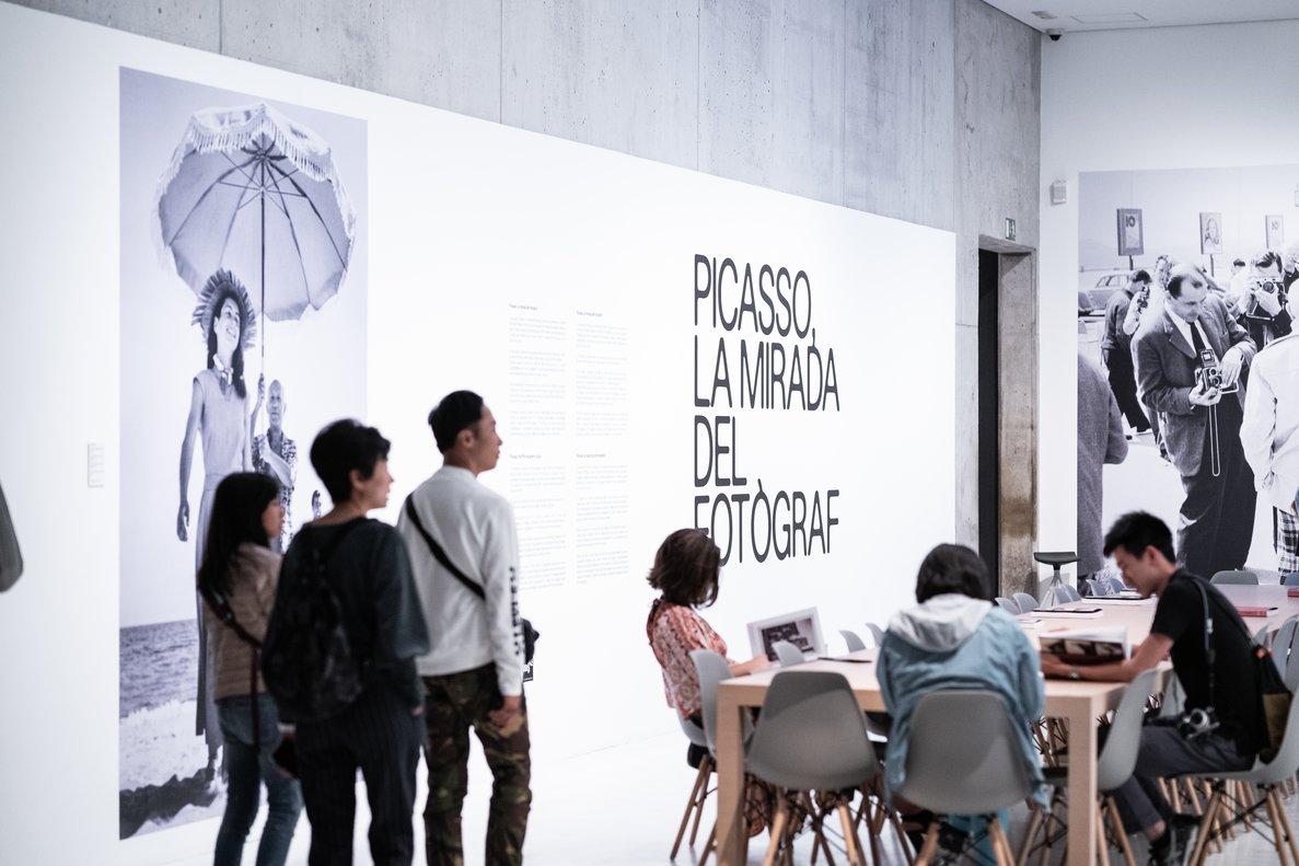 La entrada a esta exposición sobre Picasso y la fotografía.