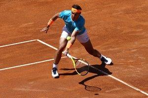 Rafael Nadal, durante su estreno en Roma.