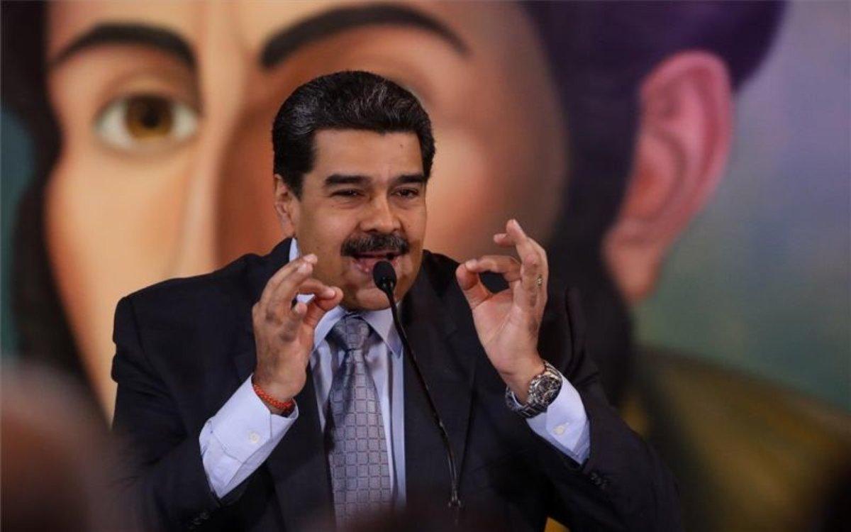 El presidente de Venezuela, Nicolás Maduro, en el Palacio de Mira Flores.