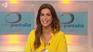 Nuria Roca, durante su debut en el programa de TV-3 A tota pantalla, el pasado 12 de septiembre.