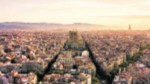 Panorámica de la Sagrada Família, en Barcelona