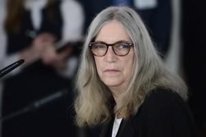 Patti Smith, durant una roda de premsa el 21 de maig a Berlín.