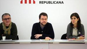 Pere Aragonès y Marta Vilalta, coordinadores generales de ERC