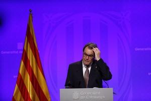 El president Artur Mas, en la comparecencia de prensa que dio el martes pasado.