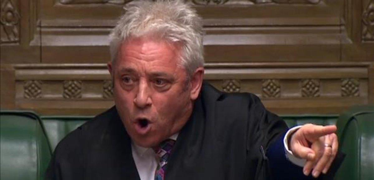 El presidente del Parlamento, John Bercow, durante una sesión parlamentaria que tuvo lugar el marzo pasado.