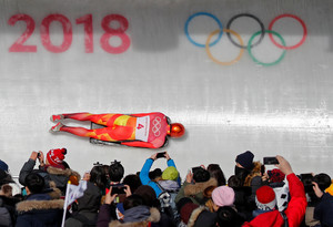 Skeleton â¿ Pyeongchang 2018 Winter Olympics â¿ Menâ¿¿s Finals â¿ Olympic Sliding Centre - Pyeongchang, South Korea â¿ February 16, 2018 - Ander Mirambell of Spain competes. REUTERS/Arnd Wiegmann
