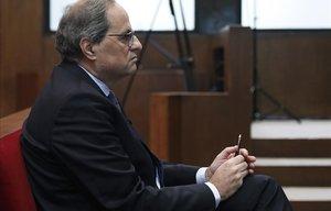 Quim Torra, en el Tribunal Superior de Justícia de Catalunya.
