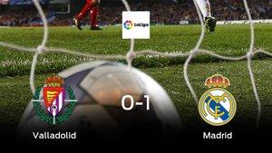 El Real Madrid se lleva tres puntos a casa tras derrotar 0-1 al Real Valladolid