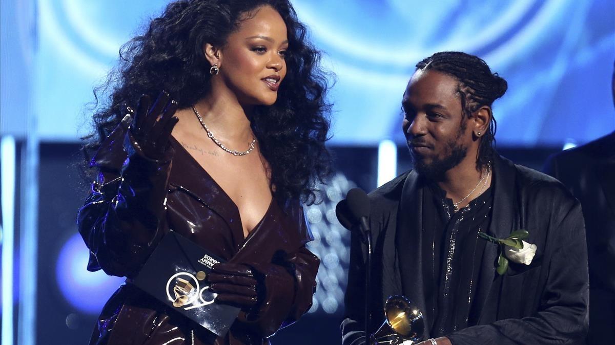 Rihanna y Kendrick Lamar, en los Grammy
