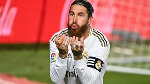 Sergio Ramos celebra un gol contra el Getafe el pasado 2 de julio.