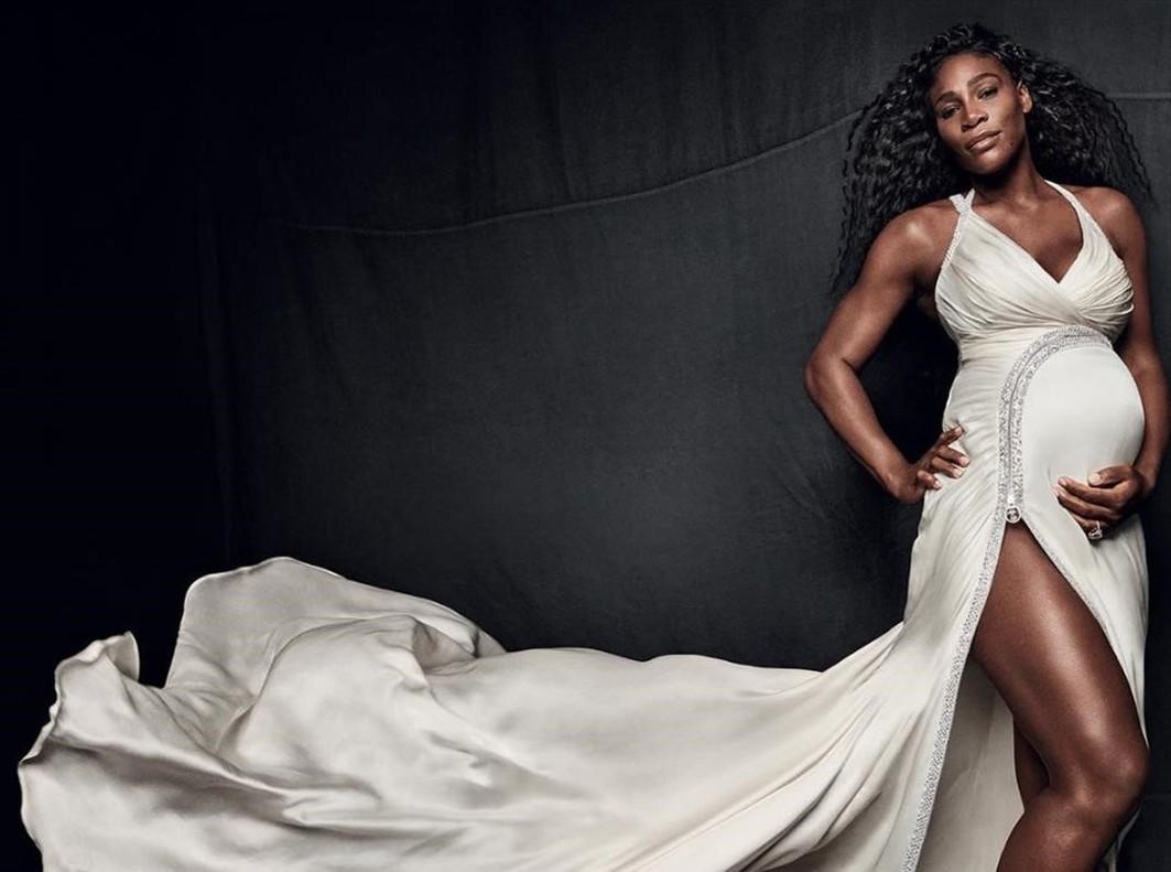 Serena Williams presume de embarazo en su cuenta de Instagram.