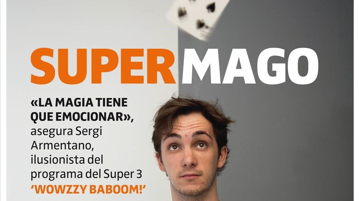 Sergi Armentano, en la portada de 'Teletodo'.