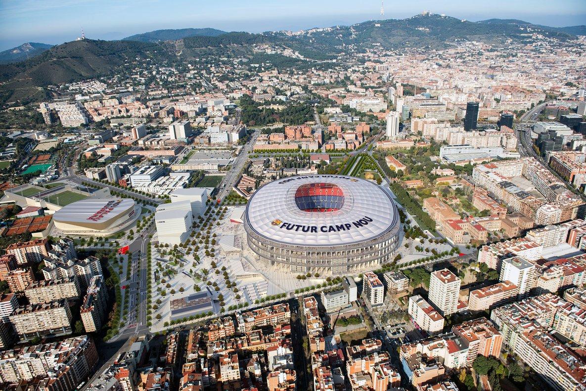 Simulación del futuro Espai Barça