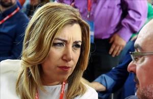 Susana Díaz, en una reunión del comité federal del PSOE, el pasado mes de octubre.