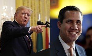 Los chavistas consideran que Guaidó es un instrumento de Trump para desestabilizar Venezuela.