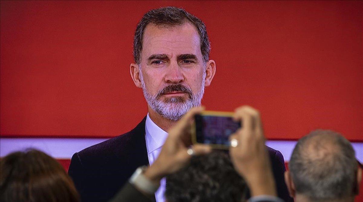 Felipe VI, el pasado noviembre en Valencia, en laentrega los Premios Rey Jaume I de 2019,que distinguen los trabajos de científicos e investigadores españoles.
