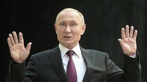 Putin durante su participación en la maratón telefónica anual.