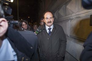 Xavier Crespo sale de la Audiencia de Barcelona, en marzo del año pasado.