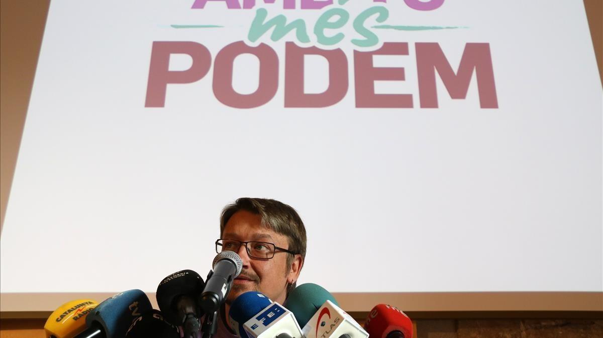 Xavier Domènech presenta su candidatura a la dirección de Podem