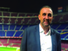 Xesco Espar, en el Camp Nou.