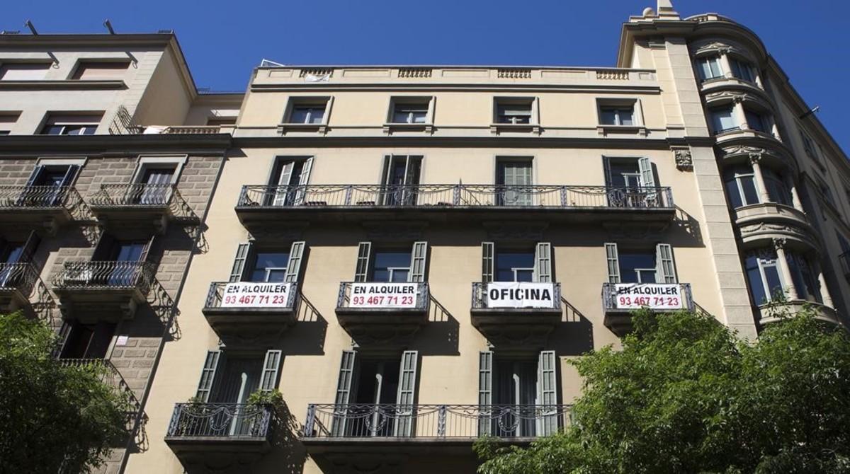 Pisos en alquiler, en Barcelona.