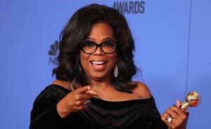 Oprah Winfrey, en la gala de los Globos de Oro en la que recibió un premio honorífico.