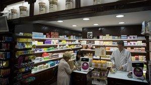 Una farmacia de Barcelona.