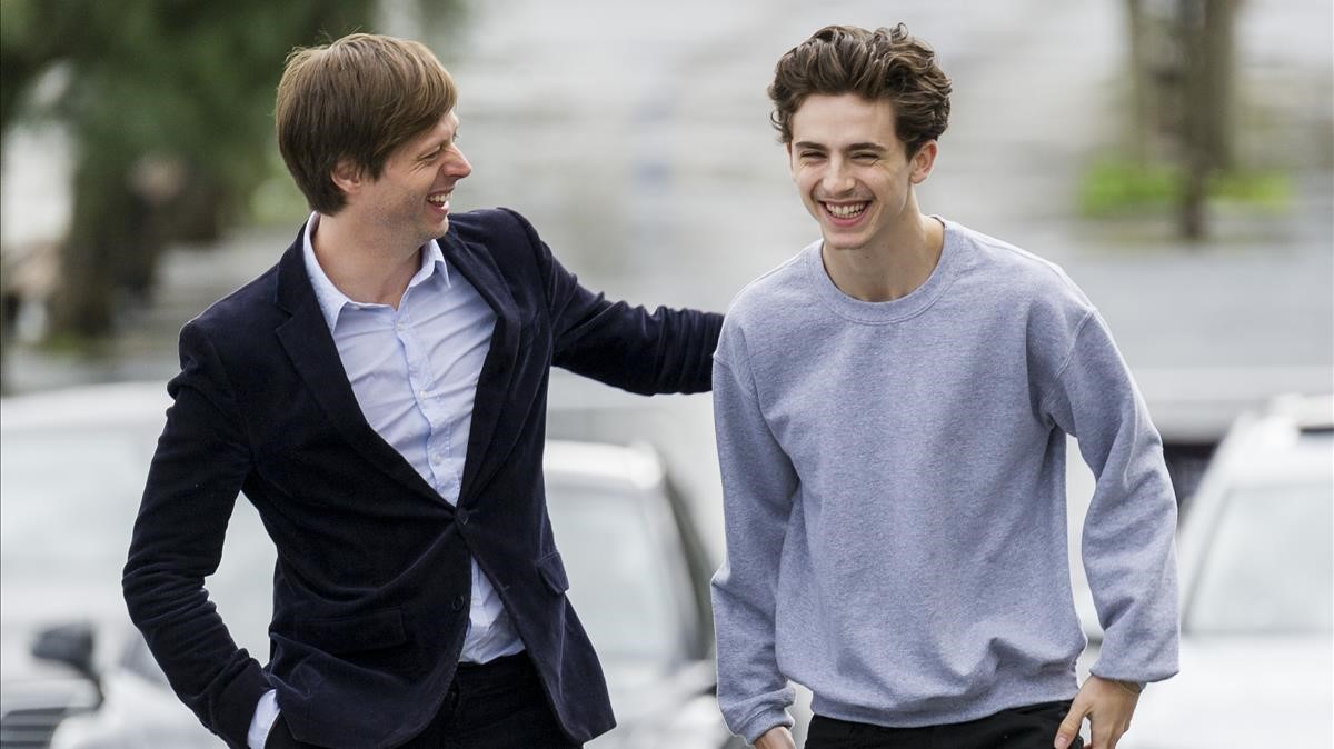 Felix van Groeningen y Timothee Chalamet, director y protagonista de 'Beautiful boy', en San Sebastián.