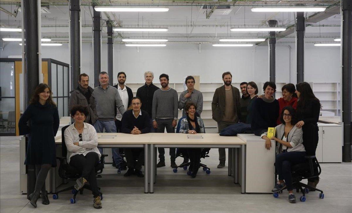 Componentes de los nueve proyectos de economía social y solidaria que han estrenado el innoBA.